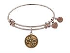 "Antique Pink Smooth Finish Brass ""best Friends"" Angelica Expandable Bangle Style number: PGEL1084"