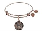 Brass with Pink Finish Proud Mom U.S. Air Force Round Angelica Expandable Bangle Style number: PGEL1290