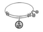 "Angelica Collection Antique White Finish Brass ""anchor"" Expandable Bangle Style number: WGEL1138"