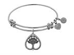 "Angelica Collection Antique White Stipple Finish Brass ""tree Of Life"" Expandable Bangle Style number: WGEL1139"