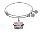 Brass with White Finish Friends You're my Lobster Angelica Expandable Bangle Style number: WGEL1304