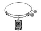 Angelica Collection Brass with White Finish U.S. Army Veteran Expandable Bangle Style number: WGEL1318