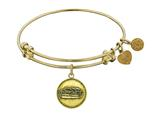 "Antique Yellow Smooth Finish Brass ""noah`s Ark"" Angelica Expandable Bangle"