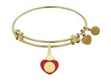 Angelica Heart Badge Expandable Bangle Collection style: GEL1242