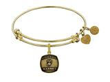 Brass with Yellow Finish Proud Sister U.S. Marines Angelica Expandable Bangle style: GEL1284