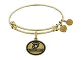 Brass with Yellow Finish U.S. Marine Reserve Angelica Expandable Bangle style: GEL1285