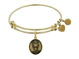 Brass with Yellow Finish Aim High Daughter U.S. Air Force Angelica Expandable Bangle style: GEL1287