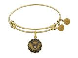 Brass with Yellow Finish Proud Daughter U.S. Air Force Angelica Expandable Bangle style: GEL1289