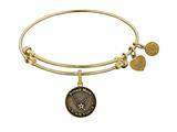 Brass with Yellow Finish Proud Mom U.S. Air Force Round Angelica Expandable Bangle style: GEL1290