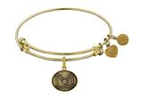 Brass with Yellow Finish Proud Sister U.S. Air Force Angelica Expandable Bangle style: GEL1291