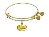 "Angelica Brass with Yellow Finish Friends Phoebe""s Taxi Expandable Bangle style: GEL1295"