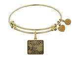 Angelica Brass with Yellow Finish Friends Regina Phalange Expandable Bangle style: GEL1297