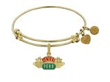 Angelica Brass with Yellow Finish Friends Central Perk Expandable Bangle style: GEL1298