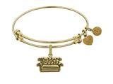 Angelica Brass with Yellow Finish Friends Central Perk Couch Expandable Bangle style: GEL1299