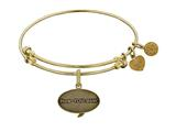 Angelica Brass with Yellow Finish Friends How You Doing Expandable Bangle style: GEL1300
