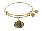 Angelica Brass with Yellow Finish Friends Pivot! Expandable Bangle style: GEL1302
