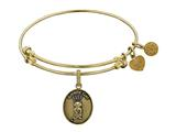 Angelica Brass with Yellow Finish Friends Smelly Cat Expandable Bangle style: GEL1303