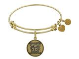 Brass with Yellow Finish Friends 20th Anniversary Charm Angelica Expandable Bangle style: GEL1305