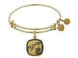 Brass with Yellow Finish U.S. Army Silhouette Angelica Expandable Bangle style: GEL1307
