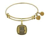 Brass with Yellow Finish U.S. Army Wife Angelica Expandable Bangle style: GEL1308