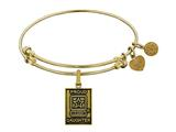 Brass with Yellow Finish Proud Daughter U.S. Army Angelica Expandable Bangle style: GEL1309