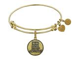 Brass with Yellow Finish U.S. Army Strong Round Angelica Expandable Bangle style: GEL1310