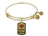 Brass with Yellow Finish U.S. Navy Girlfriend Enamel Angelica Expandable Bangle style: GEL1313