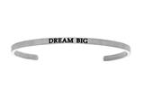 "Stainless Steel ""dream Big""diamond Cuff Bangle style: INT5006"