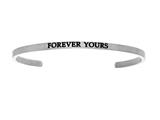 "Stainless Steel ""forever Yours""diamond Cuff Bangle style: INT5011"
