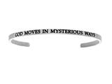 "Intuition Stainless Steel ""god Moves In Mysterious Ways""Cuff Bangle style: INT5013"