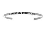 "Intuition Stainless Steel ""i Trust My S""Cuff Bangle style: INT5017"