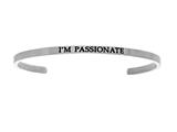 "Intuition Stainless Steel ""i""m Passionate""Cuff Bangle style: INT5023"