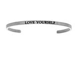 "Intuition Stainless Steel ""love Yourself""Cuff Bangle style: INT5031"