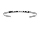 "Intuition Stainless Steel ""one Step At A Time""Cuff Bangle style: INT5034"