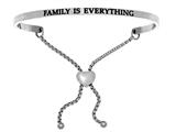 "Intuition Stainless Steel ""family Is Everything""adjustable Friendship Bracelet style: INT7010"