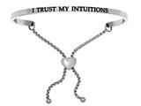 "Intuition Stainless Steel ""i Trust My S""adjustable Friendship Bracelet style: INT7020"