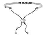 "Intuition Stainless Steel ""i'm Fearless""adjustable Friendship Bracelet style: INT7024"
