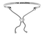 "Intuition Stainless Steel ""i""m Amazing""adjustable Friendship Bracelet style: INT7025"