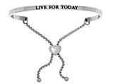 "Intuition Stainless Steel ""live For Today""adjustable Friendship Bracelet style: INT7031"