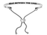 "Intuition Stainless Steel ""read Between The Lines""adjustable Friendship Bracelet style: INT7044"