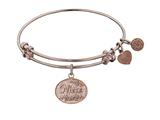 "Non-antique Pink Stipple Finish Brass ""niece"" Angelica Expandable Bangle style: PGEL1050"