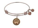 "Antique Pink Smooth Finish Brass ""aries""-march Angelica Expandable Bangle"