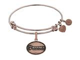 Brass with Pink Finish U.S. Marines The Few. The Proud. Angelica Expandable Bangle style: PGEL1282