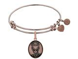 Brass with Pink Finish Aim High Daughter U.S. Air Force Angelica Expandable Bangle style: PGEL1287