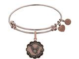 Brass with Pink Finish Proud Daughter U.S. Air Force Angelica Expandable Bangle style: PGEL1289