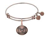 Brass with Pink Finish Proud Sister U.S. Air Force Angelica Expandable Bangle style: PGEL1291