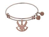 Brass with Pink Finish U.S. Air Force Symbol Angelica Expandable Bangle style: PGEL1293