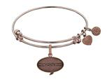 Angelica Brass with Pink Finish Friends How You Doing Expandable Bangle style: PGEL1300