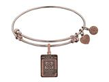 Angelica Collection Brass with Pink Finish Proud Mom U.S. Army Expandable Bangle style: PGEL1306