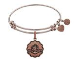 Brass with Pink Finish U.S. Navy Daughter Angelica Expandable Bangle style: PGEL1312